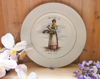 Vintage flat / / old Paris trades / / Lorenz Hutschen REUTHER / / Made in Germany / / collectible plate