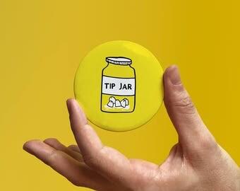Yellow Badge 'Tip Jar'