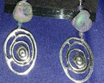 Galaxy Druzy Earrings