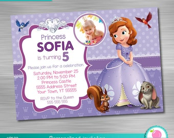 Sofia the First Invitation Print Yourself, Princess Birthday, Sofia the First Party