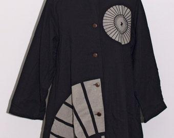 Black & White Fan Jacket - Style # 2-064