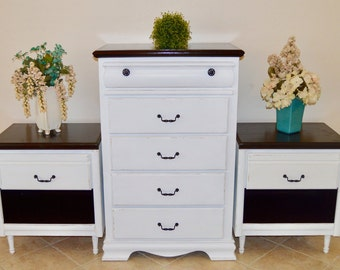 SOLD ** Custom Order | Hand Painted | Chest of Drawers | Dresser