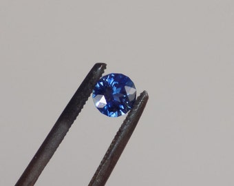 Stunning 4 mm unheated blue Australine sapphire.