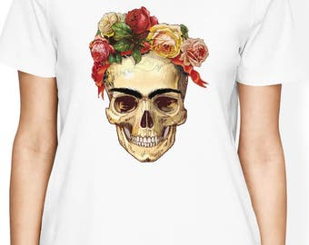 Frida Kahlo Shirt, Frida Kahlo Skull Shirt, Frida Kahlo T Shirt, Frida Kahlo Women Shirt, Funny Shirt, Gift for Her