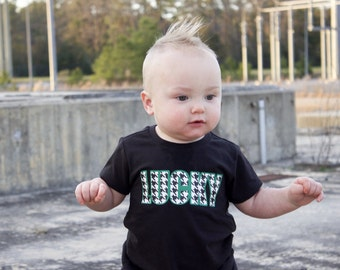 Lucky shirt, St. Patricks day shirt for kids, st. patricks day outfit, st. pattys day shirt, Clover shirt, lucky in love, pinch proof