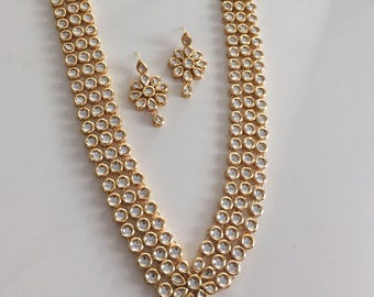 Kundan necklace, kundan jewelry, Kundan full set, Kundan multi strand necklace, India  jewelry , Indian wedding jewelry, Bollywood