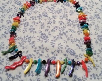 SALE - 1980s Rainbow Necklace - SALE