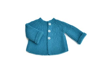 Knit baby jacket. Baby boy jacket. Baby boy cardigan. Baby Knit clothes. Handmade jacket baby. Newborn clothes. New baby gift. Babyshower.