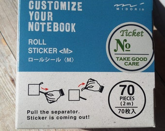 70 piece roll stickers for planner, midori, notebook