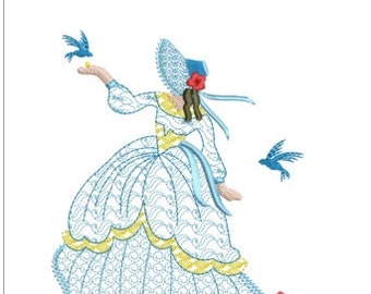 southern belle machine embroidery download 5  different sizes ( 3.4 X3.4   4x4   5x5   6x5  7x6    hoop)