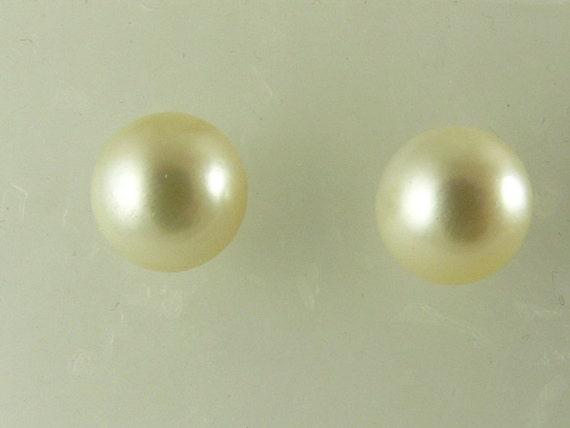 South Sea Pearl Earring Stud 14k Yellow Gold