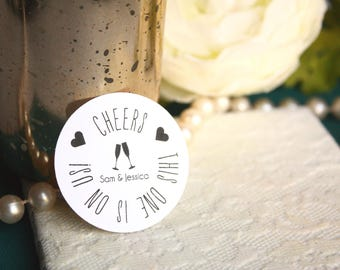 Cheers Drink Tickets, Custom Wedding Drink Tickets, Cheers Drink Token, Free Drink Tickets for Wedding or Engagement Party