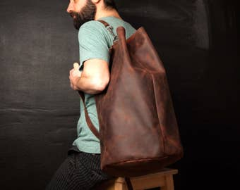 Leather Duffel Bag, Leather Weekender Bag, Duffle Bag made of Leather, Leather Bag