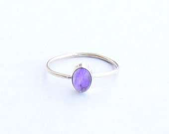 Amethyst ring, Sterling Silver Ring, 925 Sterling Silver, Silver Ring