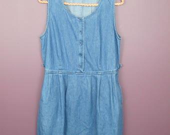 Reworked Vintage Denim Babydoll Dress