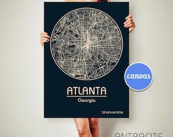 ATLANTA Georgia City Map Atlanta Georgia Art Print Atlanta Georgia poster Atlanta Georgia map art United States of America Poster