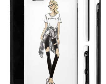 Customizable Fashion Gift, Tomboy Shirt, Fashion Iphone 6 case, Customizable Art, Custom Birthday Gift, Chic Wall Art, Tomboy, Iphone Case