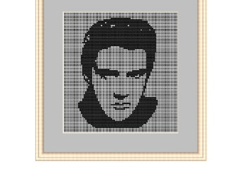Plastic Canvas Elvis Presley Counted Cross Stitch Pattern.  PDF Instant Download.  Begginers Pattern.