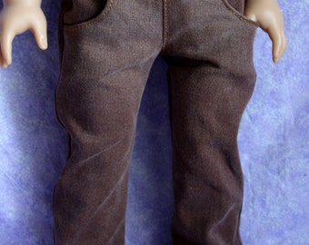 18 Inch Doll Clothing Boot Cut Jeans Chocolate Brown