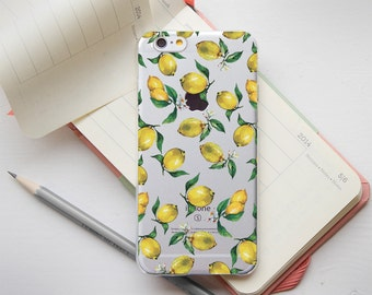 Lemon iPhone 7 Case iPhone 7 Plus Case iPhone 6 Case Transparent Case iPhone 7 Clear Case iPhone 6s Cover iPhone 6 Plus Case HTC Clear Case