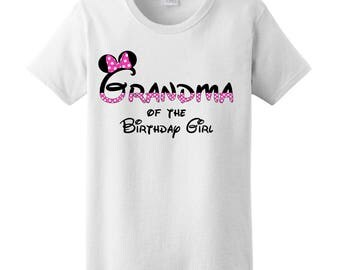 Grandma of the Birthday Girl Minnie Mouse Party Theme T-Shirt