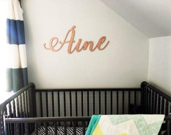 Personalized Cutout Name Sign - Rose Gold - Girls Room Decor - Baby Shower Decor - Rose Name Sign - Calligraphy Name Sign - Laser Cut