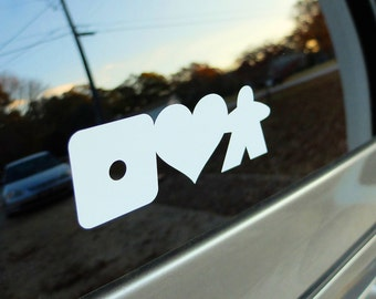 iheartmeeple Vinyl Decal for board game car decal - I Heart Meeple laptop sticker