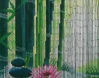 Serenity Zen Bamboo Beaded Curtain