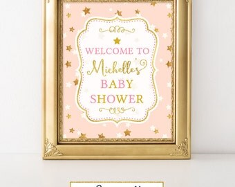 Twinkle Little Star Welcome Baby shower Party Sign Printable Twinkle Little Star Baby Shower Twinkle Little Star Decor FBRS009