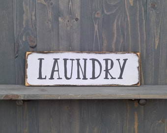 Rustic Laundry Sign Laundry Room Signs Hand Painted Rustic Laundry Room Decor