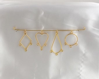 Gold & Silver Plated Brass Pendant Drops