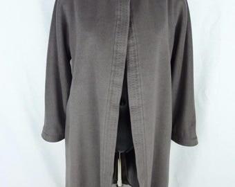 Manteau gris - manteau MAX MARA -manteau en laine et cachemire - manteau cape gris - manteau en cachemire gris - (Taille 36 - Size S/M)