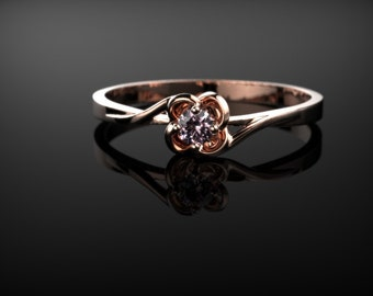 Rose Gold Pink Topaz Engagement Ring Gold Pink Topaz Ring Pink Gemstone Engagement Ring Pink Topaz Ring October Birthstone Ring