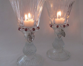 Votive candle holders from pineapple pillars