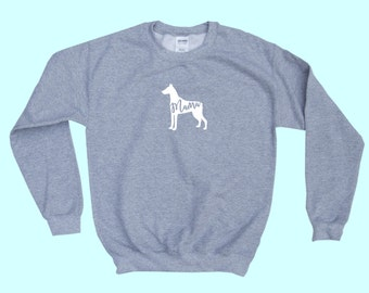 "Doberman Pinscher ""MAMA"" - Dog Mama Crewneck Sweatshirt"