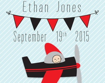 Essendon Bombers Birth Announcement Print
