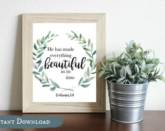 He Has Made Everything Beautiful DIGITAL Print