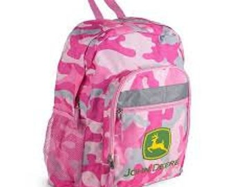 Pink Camo John Deere Backpack