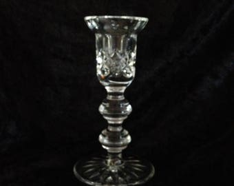 Crystal 5 Inch Single Light Candlestick from The Waterford Giftware Collection; New Vintage