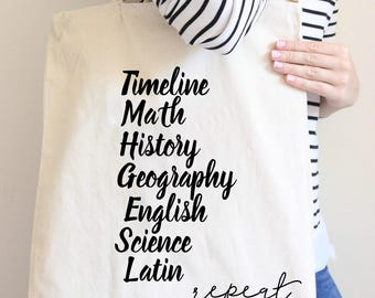 Classical Conversations Gift, Homeschool Mom, Tutor Gift, Homeschool Tote Bag, Gift for Tutor, Tutor Gift, Homeschool, FREE shipping