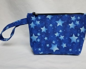 Glitter Stars Quilted Wristlet