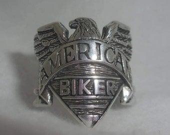 Vintage American Biker Ring