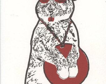 Hip-Hop Bunny Card