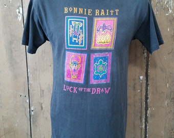 Vintage Bonnie Raitt Luck of the Draw 1992 Tour Shirt, Medium