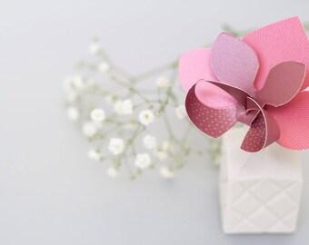 Paper pop out buttonhole orchid