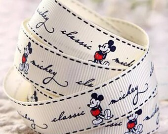 """5/8"""" Mickey Mouse Grosgrain Ribbon by the Yard   R15"""