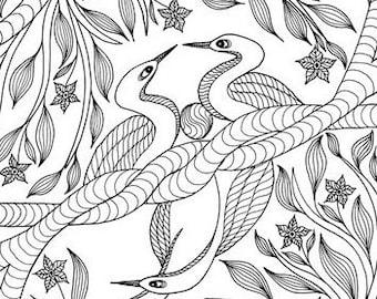 BALANCE- original drawing, pen and ink drawing, signed original drawing, vibrational art, woodland art inspired