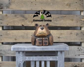 Chainsaw Carved Bear Cub (Lennie)