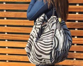 Reversible bag silk