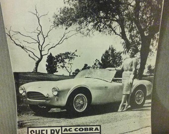 Rare Early 4-Page Brochure On The First Shelby Cobra, Mint Condition